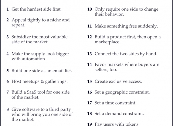 """Suggested Reading By Superman: """"Tactics to Solve the Chicken-or-Egg Problem and Grow Your Marketplace"""""""